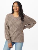 Westport Pointelle Sweater - Grey - Front