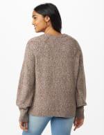 Westport Pointelle Sweater - Grey - Back