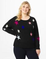 Roz & Ali Stars Pullover Sweater - Plus - 6