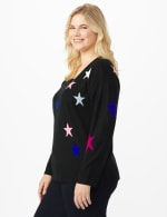 Roz & Ali Stars Pullover Sweater - Plus - 4