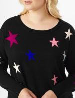 Roz & Ali Stars Pullover Sweater - Plus - 5