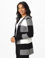 Roz & Ali Plaid Jacquard Sweater Cardigan - 4