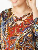 Westport Paisley Knit Top - Plus - 5