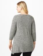 Westport Asymmetrical Hem Tunic - Grey/Black - Back