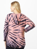 DB Sunday Tie Dye Hoodie - Plus - Mauve Pink - Back