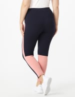 DB Sunday Color Block Legging - Plus - Navy with Mauve - Back