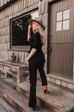 Jenna Denim long sleeve Jumpsuit - Plus - 4