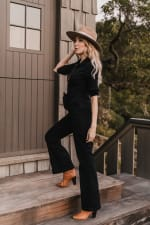 Jenna Denim long sleeve Jumpsuit - Plus - 3