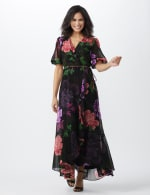 Large Floral Ruffle Dress - 11