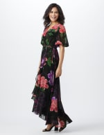 Large Floral Ruffle Dress - 9