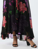 Large Floral Ruffle Dress - 10
