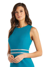 Sleeveless, Fitted Fishtail Dress with Diamante Embellishments - 10
