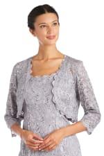 Lace Bolero Jacket Dress - 5