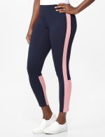 DB Sunday Color Block Legging - Navy with mauve - Front