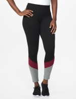 DB Sunday Colorblock Legging - Black/Burgundy - Front