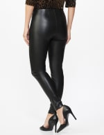 Pull on Faux Leather Pant - Misses - Black - Back