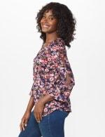 Dressbarn Cold Shoulder Floral Knit Top - 3