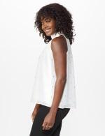 Foil Printed Sleeveless Mock Neck Blouse - Misses - 10