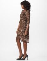 Leopard Faux Wrap Dress - 3