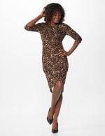 Leopard Faux Wrap Dress - 5