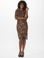 Leopard Faux Wrap Dress - 6