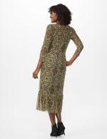 Victorian Art Print Midi Dress - Gold - Back