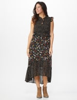 Ditsy Peasant Dress - Misses - 6