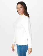 Roz & Ali Funnel Neck Cable Sweater - 3