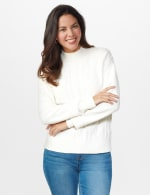 Roz & Ali Funnel Neck Cable Sweater - 6