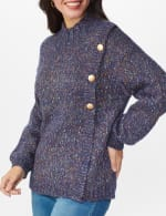 Roz & Ali Novelty Button Pullover Sweater - 5