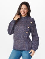 Roz & Ali Novelty Button Pullover Sweater - 6