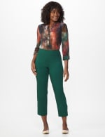 Superstretch Ankle Pants with Button Detail at the Hem - 5