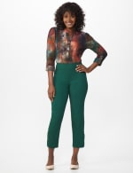 Superstretch Ankle Pants with Button Detail at the Hem - 6