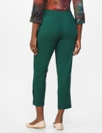 Superstretch Ankle Pants with Button Detail at the Hem - Hunter - Back