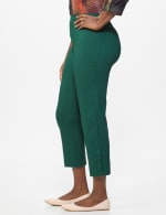 Superstretch Ankle Pants with Button Detail at the Hem - 3