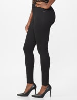 Ponte Pull On Legging with Faux Pockets and Rivet Trim - 6