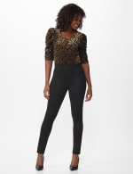 Ponte Pull On Legging with Faux Pockets and Rivet Trim - 2