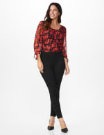 Ponte Pull on Legging with Seam Detail - 5