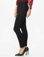 Ponte Pull on Legging with Seam Detail - 3
