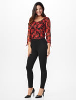 Ponte Pull on Legging with Seam Detail - 6