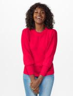 Roz & Ali Novelty Sleeve Stitch Interest Pullover Sweater - 12