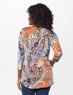 Westport Paisley Knit Top - Misses - Multi - Back
