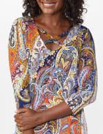Westport Paisley Knit Top - Misses - 5