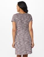 Boucle Sheath Dress - Dark Plum - Back