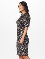 Zebra  Faux Wrap Dress - 3