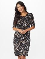 Zebra  Faux Wrap Dress - 5