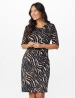 Zebra  Faux Wrap Dress - 6