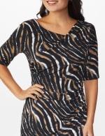 Zebra  Faux Wrap Dress - 4