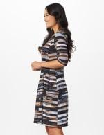 Brush Stroke Stripe Dress - 4
