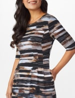Brush Stroke Stripe Dress - 5